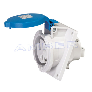 High-End Type IP44 Panel Mounted Angle Socket